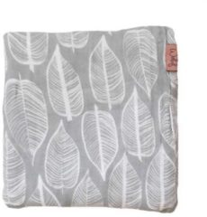 Grijze Witlof for kids Beleaf swaddle/hydrofiele doek 120x120 cm warm grey/wit