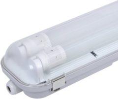 Grijze HOFTRONIC Multipack 6 stuks IP65 LED armaturen 120 cm incl. 2x18W LED TL buizen 6400K