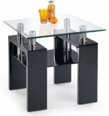 Home Style Bijzettafel Diana 60x55x60 cm breed in zwart