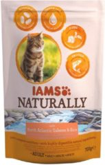 Iams Naturally Cat Adult Zalm&Rijst - Kattenvoer - 700 g