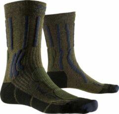Donkergroene X-socks Wandelsokken Trek X Katoen/polyamide Groen Mt 35/38