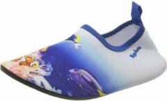 Playshoes - Kid's UV-Schutz Barfuß-Schuh Unterwasserwelt - Watersportschoenen maat 26/27, grijs/blauw
