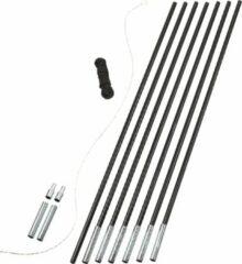 Zilveren Easy Camp Pole DIY 8.5 mm Tentstok - Glasvezel - Black/Silver