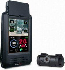 Zwarte LUKAS K900 QuadHD Touch Wifi GPS 32gb dashcam voor auto