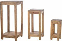 Cozy Ibiza Bijzettafel van gerecycled hout (3 stuks)