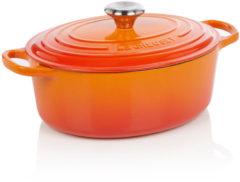 Le Creuset Gietijzeren ovale braadpan in Oranje-rood 27cm 4,1l