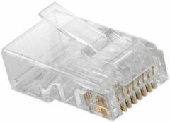 Transparante Nedis RJ45 krimp connectoren voor U/UTP CAT6 netwerkkabel (vast) - 10 stuks