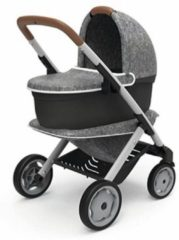 Grijze Smoby Quinny Smoby - Quinny 3 in 1 - Poppenwagen