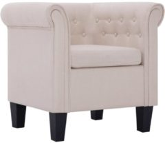 Creme witte 5 days Fauteuil met kussen polyester crme