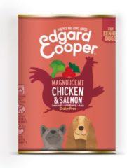 Edgard-Cooper Edgard&Cooper Blik Chicken Salmon Senior - Hondenvoer - Kip Zalm Broccoli 400 g Graanvrij