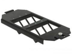DeLOCK Vloeraansluitdoos inbouw frame voor 6 Keystone modules / zwart