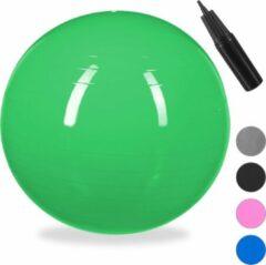 Relaxdays 1x fitnessbal 85 cm - gymbal - zitbal - yogabal - pilatesbal - kantoor - groen