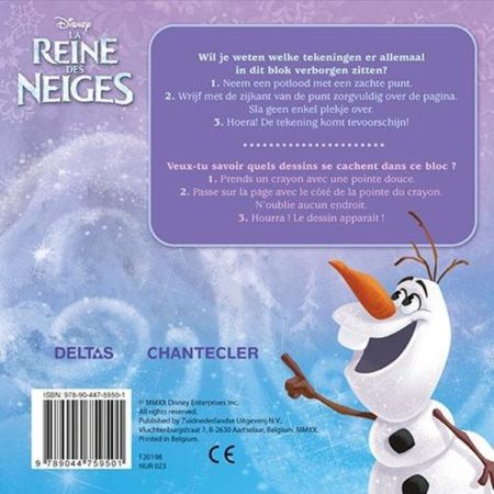 Afbeelding van Paarse Deltas Disney Super Magic Toverkrasblok Frozen / Disney Super Magic bloc magique Frozen
