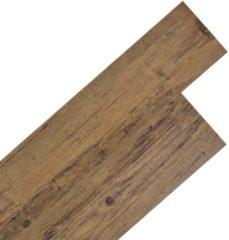 VidaXL Vloerplanken zelfklevend 5,02 m² PVC walnoot bruin
