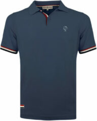 Blauwe Q1905 Polo shirt matchplay jeans