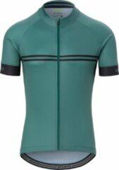 Giro Chrono Sport Fietsshirt - Maat S - Mannen - Grijs/Groen/Zwart