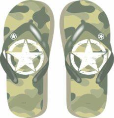 Arditex teenslippers Military junior lichtgroen maat 34
