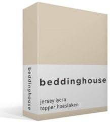 Beddinghouse jersey lycra topper hoeslaken - 95% gebreide katoen - 5% lycra - 1-persoons (70/80x200/220 cm) - Beige