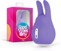 Good Vibes Only Tedy Clitoris Stimulator met 10 Vibratiestanden - 9,50 cm - Paars