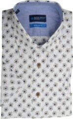 Kaki Bos Bright Blue 20107WO37BO Casual overhemd met korte mouwen - Maat XL - Heren