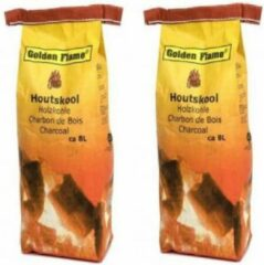 Golden Flame - 2x - Houtskool - 8 liter
