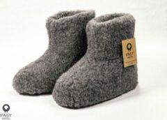 Fast wool Wollen sloffen - laars model - grijs - maat 47
