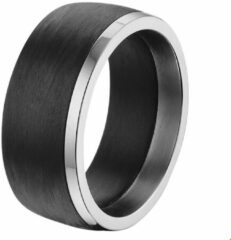 Zilveren The Jewelry Collection For Men Ring Carbon - Staal
