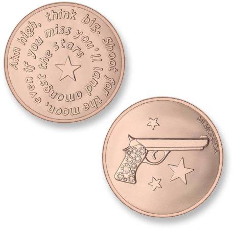 Afbeelding van Mi Moneda MON-AIM-03 Aim High Pistol rosekleurig Small