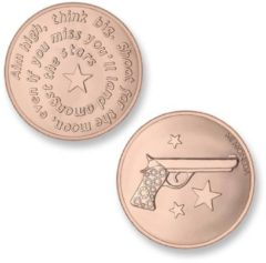 Mi Moneda MON-AIM-03 Aim High Pistol rosekleurig Small
