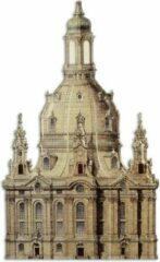 Bruine Trendybywave Wanddecoratie - Wandbord Dresden Frauenkirche - Metalen decoratie kerk - 48,8 cm breed