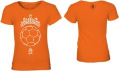 KNVB - Nederlands Elftal - Leeuwinnen T-shirt Meisjes - Tiara Bal - Blanco - Oranje-164-170
