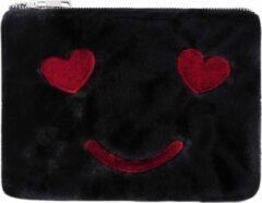 Yehwang Vrolijk Make-up tasje zwart met ritssluiting - lekker zacht - handig mee te nemen - koop hem voor uzelf of Bestel Een Kado