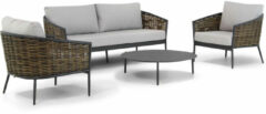 Taupe Coco Lanai/Pacific 100 stoel-bank loungeset 4-delig