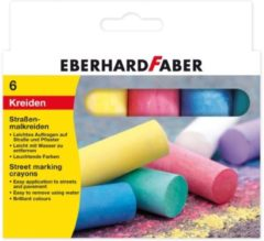 Stoepkrijt Eberhard Faber 4-kantig 6 kleuren