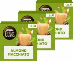 NESCAFÉ Dolce Gusto Nescafé Dolce Gusto capsules Almond Macchiato - vegan koffie - 36 koffiecups - geschikt voor 36 koppen koffie