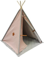 Overseas Tipi Tent Canvas Luxe Smoke / Blush