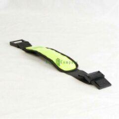 Groene FYOS 2 x Gele LED hardlooparmband met reflector en fiber licht