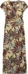 Bruine Expresso Garlijn maxi jurk met overslag en bloemenprint