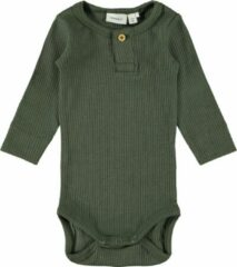 NAME IT BABY romper donkergroen