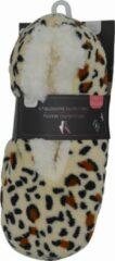 Beige Inter socks SLOFFEN - Dames - ULTRA ZACHT - maat 36/38 - antislip - Moederdag cadeautje