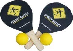 Zwarte Donic Schildkröt Street Racket set in draagtas zwart