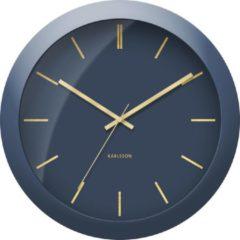 Karlsson Wandklokken Wall clock Globe Design Armando Breeveld Blauw