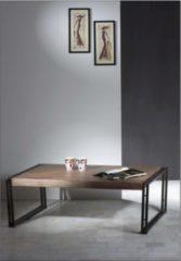 Baidani Excl. Designer Couchtisch HEAVY 120 x 80 cm Sheesham + Metall Used-Look