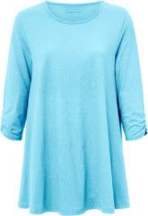 Green Cotton Lang shirt van 100% katoen met 3/4-mouwen Van groen Cotton turquoise
