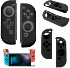 Merkloos / Sans marque Silicone Anti Slip cover voor Nintendo Switch Controller Zwart
