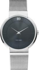 Zilveren Danish Design watches edelstalen dameshorloge Fur Black IV63Q1195
