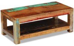 Bruine VidaXL Salontafel massief gerecycled hout 90x45x35 cm