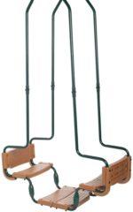Groene Swing King Dubbele schommel vierkante haak groen en bruin 2521138