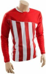 Precision voetbalshirt precision polyester rood wit