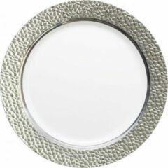 "Royal ware by Farla Wit en zilver vierkante plastic borden, 9,75"" - verpakking van 10 borden"